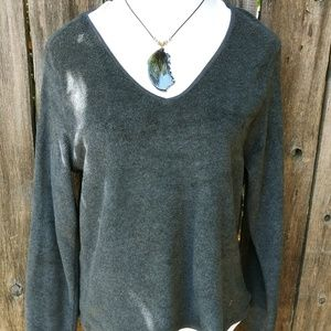 Old Navy Dark Gray Fleece Pop Over Top